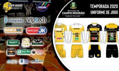 Basquete: Campo Mourão lança novo uniforme