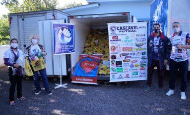 Futsal: Cascavel doa mais de duas toneladas ao Provopar