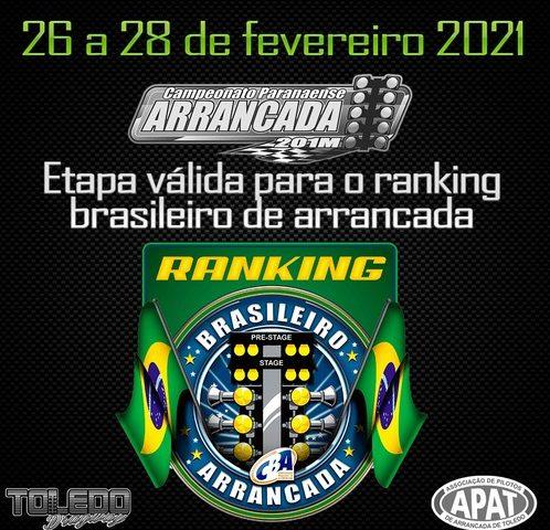 Arrancada terá Ranking CBA com 20 etapas